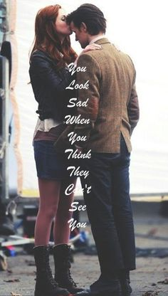 You look sad when you think they can't see him. - Amy Pond Williams - The Doctor - Sherlock - Molly Cooper - WhoLock