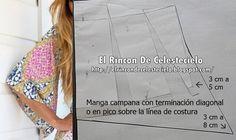 El Rincon De Celestecielo: Patrones para manga campana corta y larga Dress Patterns, Sewing Patterns, Boarding Pass, Dresses With Sleeves, Sew Dress, Pants, Sleeve Pattern, Dress Making Patterns, Patron De Couture