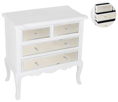 Elegant and classy #mirrored wooden #console in white color. www.inart.com