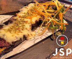 Smoked Eggplant***** Miso Dengaku/San Simone/Sesame Cinco JSP  Let's rock \m/  #cinco #jsp #japan #spain #peru #nikkei #restaurant #tapas #athens #kolonaki #skoufa #endlessdream #cinco_athens #pisco #sake #ceviche #tiradito #tigersmilk #causa #porkrib #cincoathens #markadakisteam #eggplant #smoked #sansimone