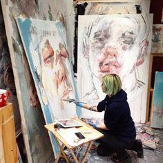 Month ago by ellysmallwood Art And Illustration, Illustrations, Portrait Art, Portraits, Elly Smallwood, Painters Studio, Art Hoe, Face Art, Art Studios