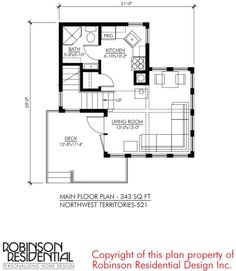 Small House Design: North West Territories by Robinson Residential Best House Plans, Tiny House Plans, Backyard Cottage, Northwest Territories, Micro House, Good House, Small House Design, Modular Homes, Small Space Living