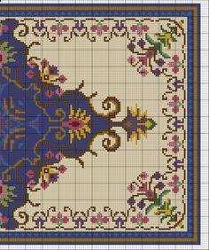 Gallery.ru / Фото #1 - Floral Blue Rug - azteca