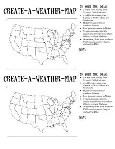 Reading a Weather Map | teacher stuff :) | Pinterest | Weather ...