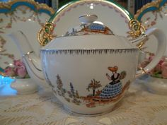 Royal Albert Crown China Dainty Dinah Teapot Milk Jug Sugar Bowl | eBay