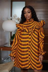 kitenge designs Loose fitdress 37 inch overall length 26 inch fitted sleeves Button fastening Interfacing in collar. Short African Dresses, African Inspired Fashion, Latest African Fashion Dresses, African Print Dresses, African Print Fashion, Africa Fashion, Ankara Fashion, Tribal Fashion, Short Dresses