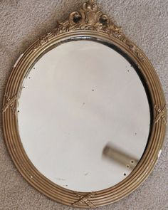 Large Gold Chippy Mirror by losttreasures2u on Etsy