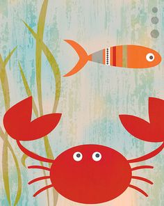 feeling crabby 8 x 10 print  by Blue Bunny by BlueBunnynOrangeNose, $20.00
