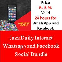 Jazz Daily Internet Whatsapp And Facebook Social Bundle Jazz Internet Jazz Internet Packages