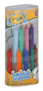 "Tuesday Tip - Bath Crayons Are Great for Kids AND Entrepreneurs! -- Last week I got wrapped up in a project I was working on, and I lost track of time.  Rushing, I ran to the bathroom to take a shower before heading out.  Stepping into the water, I couldn't help but to hope I didn't have any great ideas while in there, as I was without my trusty ""Chubby"" notebook and pen."