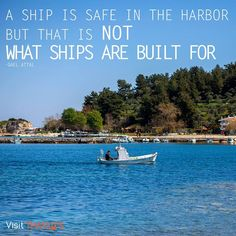 """""""A ship is safe in the harbor but that is not what ships are built for."""" -Gael Attal- #thassos #holidays #greece #visit_thassos #thassosnow"""