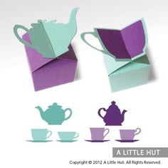 tea time boxes and graphics tea pots and tea cups