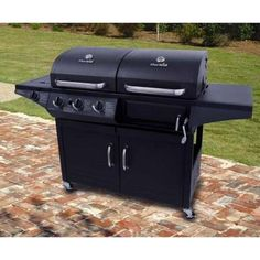 Char-Broil Triple Function Propane Gas/Charcoal Grill with Side Burner-463724514 - The Home Depot