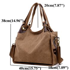 Women Large Capacity Canvas Casual Handbag Shopping Travel Shoulder Bags is Worth Buying - NewChic Mobile.