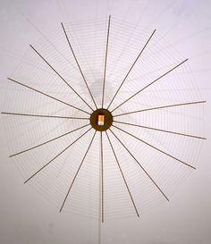 Bird Trap, Wood, metal, flashlight, 87 x 87 x 9 inches. Bird Trap, Art Object, Flashlight, Objects, Ceiling Lights, Sculpture, Metal, Wood, Inspiration