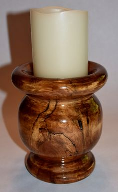 Spalted Ash Candle Holder