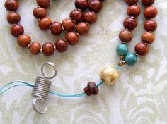 Make a Tassel Necklace with Prayer Beads - Rings and ThingsRings and Things Jewelry Knots, Bead Jewelry, Diy Jewelry, Jewelry Making, Jewellery, Mala Necklace Diy, Prayer Bead Necklaces, Prayer Beads, Beaded Rings