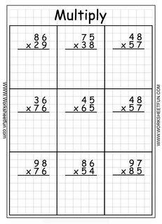 Multiplication 3 Digit By 2 Digit 22 Worksheets Mrs Frantti S Free Printable Multiplication Worksheets, 4th Grade Math Worksheets, Teaching Multiplication, Teaching Math, Number Worksheets, Grade 5 Math, Multiplication Sheets, Multiplication Strategies, Math Sheets