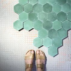 cement tile has slight variation in color, so between that and the grout lines, i think there's enough pattern... but pinning some other options in case you like...