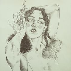 Drawing Sale! FKA twigs signed original drawing, dimensions 29.5x41cm. £60+p&p! Email liz.clements84@gmail.com!