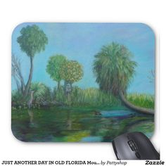 JUST ANOTHER DAY IN OLD FLORIDA Mousepad