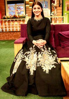 Anushka Sharma on the sets of 'The Kapil Sharma Show'.