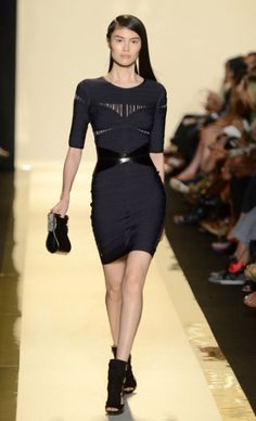 Herve Ledger Maxazria Ny Fashion Week Spring 2013 perfect little black dress <3