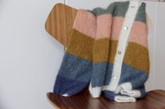 Sorbet cardigan – garn, farvekoder med mere | Efterår | Mor med mere Mullets, Cardigans, Sweaters, Sorbet, Leg Warmers, Knit Cardigan, Knitwear, My Favorite Things, Knitting
