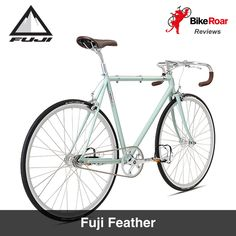 """""""This steel beauty is a great addition to your never ending bicycle collection."""" BikeRoar reviews the Fuji Feather. LEARN MORE at BikeRoar. com or use this direct link : http://www.bikeroar.com/products/fuji/feather-2015. #fixie #bike #fixedlife #bicycle #fixedgear #steel #fujibikes"""