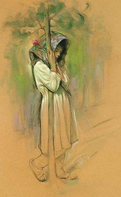 Sen bizim Veli`mizsin. O halde affet bizi, acı bize. Sen affedenlerin en hayırlısısın!. Bize hem bu dünyada güzellik yaz hem de ahirette! Dönüp dolaşıp sana geldik. (A`raf, 155-156) Painting by Morteza Katouzian