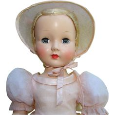1952 Effanbee Honey Doll Pink Bridesmaid Strung HP 16 Inch Beautiful from americanbeautydolls on Ruby Lane