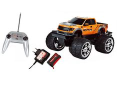 The Carrera Ford F-150 SVT Raptor radio controlled off road monster truck from the Carrera radio control range in 1/16 scale is a great off road vehicle offering lots of outdoor fun!    This monster truck is ready built and ready to run and includes everything you require in the box!
