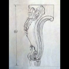 Drawing Artist, Drawing Sketches, Art Drawings, Wood Carving Designs, Wood Carving Patterns, Woodworking Ornaments, Ornament Drawing, French Rococo, Sketch Paper