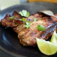 Thai BBQ Pork Chops. I'm thinking just omit the 1tsp of sugar from the marinade.