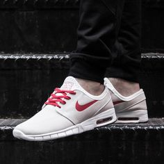 Nike SB Stefan Janoski Max: Summit White/Varsity Red