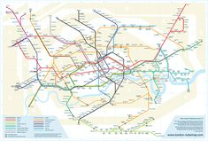 Geographically correct London Tube Map by Mark Noad Design