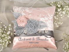 Lace Wedding Pillow  Ring Bearer Pillow Shabby by DecorisWedding, $46.00