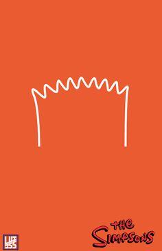 Minimalist Simpson Poster by Luis Herrera, via Behance
