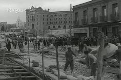 Abril 1962 - Construcción del puente de Ventas.
