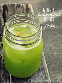 Ginger Cucumber Detox Juice: 2 cucumbers 2 inch knob of ginger 1/2 lime 1 cup of parsley dash of cayenne pepper