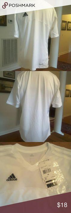 💰CLEARANCE‼️Adidas White Jersey NTW Adidas white jersey medium Adidas Shirts & Tops