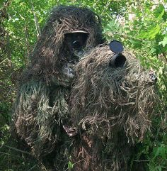 How to make a Proffesional Ghillie Suit~ Because somebody has to keep the Bigfoot legends alive...