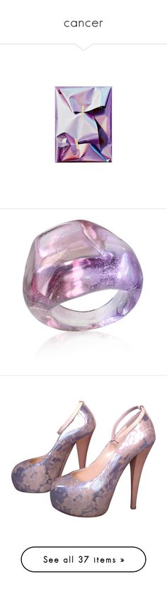 """""""cancer"""" by glass-tears ❤ liked on Polyvore featuring fillers, backgrounds, jewelry, rings, accessories, purple, anillos, jewelry & co, murano glass jewelry and handcrafted jewellery"""