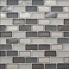 "PATTERN:  1"" x 2"" Offset...Nominal Sheet Size: 10 5/8"" x 11 3/4""...Thickness: .24""...Sample Item Number: 94900 Oceanside Glass Tile Tessera Collection"