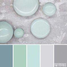 Ideas For Nails Grey Mint Color Schemes Best Bathroom Colors, Bathroom Color Schemes, Bathroom Ideas, Bathroom Color Palettes, Bathroom Things, Design Bathroom, Blue Wall Colors, Colour Gray, Dark Blue Walls