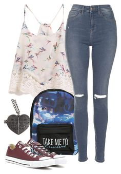 """Demigod Daughter Of Hebe"" by cfull ❤ liked on Polyvore featuring Disney, Topshop and Converse"