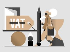 VAT designed by Timo Kuilder. Connect with them on Dribbble; People Illustration, Flat Illustration, Digital Illustration, Sketch Design, Design Art, Vector Design, Google Style, Color Vector, Visual Communication
