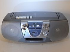 Sony CFD-V8 CD Player Cassette Stereo AM/FM Radio Boombox Blue Grey Portable