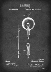 patent light bulb electric lamp edison vintage illustration