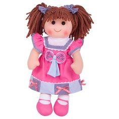 Bigjigs Toys látková bábika Ema 38 cm